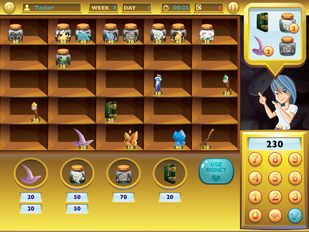 Magic Store Math - New educational iPad Math Game for Kids Image